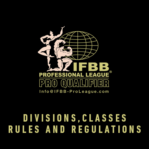 Click here to see IFBB divisions, classes, rules and regulations