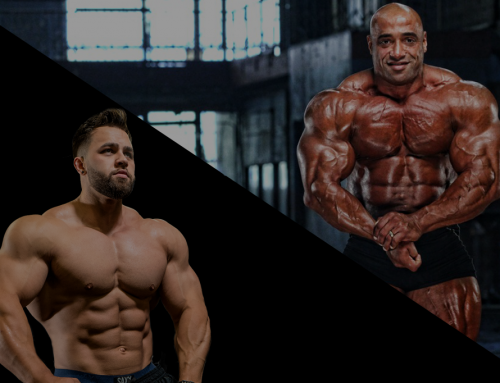 Regan Grimes and Dennis James, two heavy hitters attending the Dubai Muscle Show